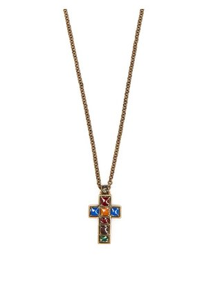 Gucci - Cross Pendant Necklace - Mens - Multi