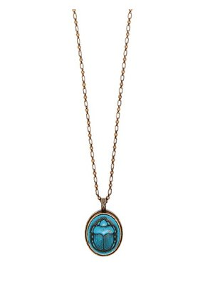 Gucci - Scarab Cameo Pendant Necklace - Mens - Blue