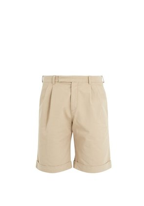 Jw Anderson - Mid Rise Tailored Shorts - Mens - Beige