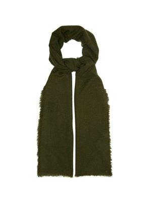 From The Road - Pari Wool Blend Scarf - Mens - Green
