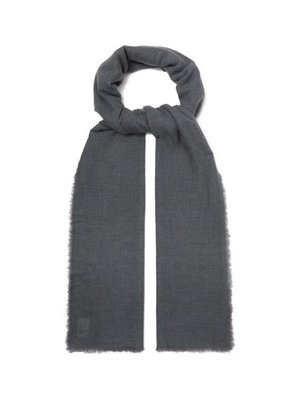 From The Road - Pari Wool Blend Scarf - Mens - Blue