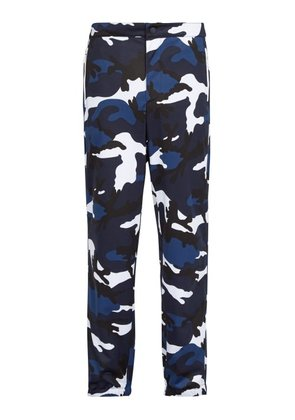 Valentino - Camouflage Track Pants - Mens - Blue