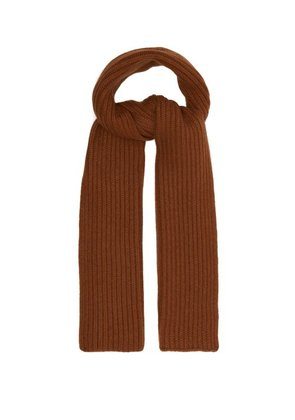 Thom Sweeney - Ribbed Knit Cashmere Scarf - Mens - Camel