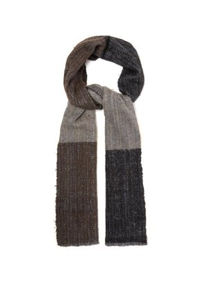 Denis Colomb - Ise Check Frayed Wool Blend Scarf - Mens - Multi