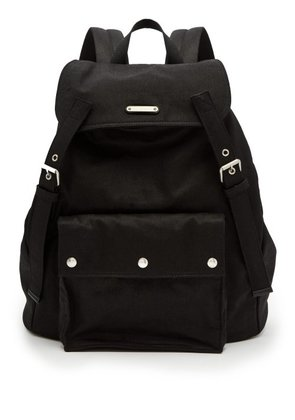 Saint Laurent - Canvas And Leather Backpack - Mens - Black