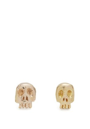 Aris Schwabe - Skull Gold Earrings - Mens - Gold