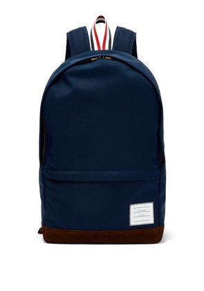 Thom Browne - Logo Patch Nylon Backpack - Mens - Navy