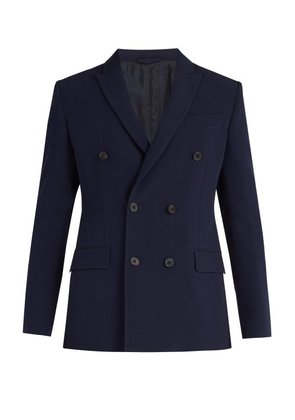 Connolly - Double Breasted Peak Lapel Blazer - Mens - Navy