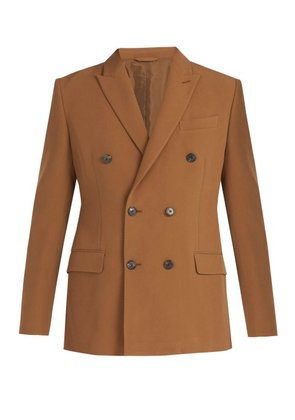 Connolly - Double Breasted Suit Jacket - Mens - Brown