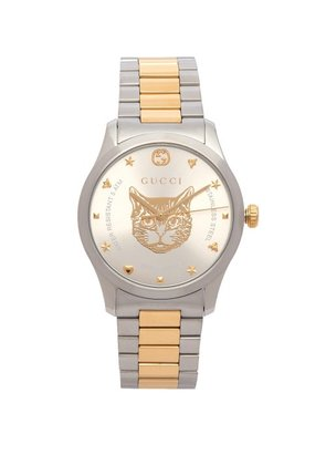 Gucci - G Timeless Tiger Face Watch - Mens - Silver Gold