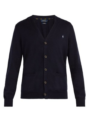 Polo Ralph Lauren - Logo Embroidered Cardigan - Mens - Navy