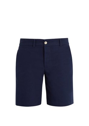 Hecho - Mid Rise Straight Leg Cotton Shorts - Mens - Navy