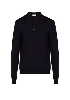 éditions M.r - Maxime Wool Polo Shirt - Mens - Navy
