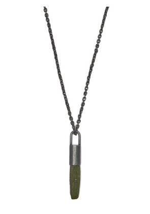 Parts Of Four - Talisman Moldavite And Sterling Silver Necklace - Mens - Silver