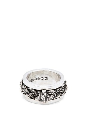 Emanuele Bicocchi - Braided Sterling Silver Ring - Mens - Silver