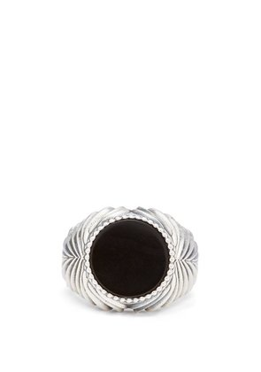 Emanuele Bicocchi - Onyx Sterling Silver Ring - Mens - Silver