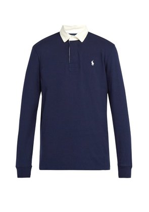 Polo Ralph Lauren - Logo Embroidered Cotton Rugby Shirt - Mens - Navy