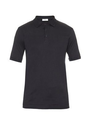 The White Briefs - Maier Cotton Polo Shirt - Mens - Navy