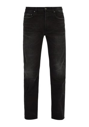Valentino - Straight Leg Washed Denim Jeans - Mens - Black