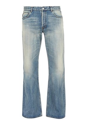 Balenciaga - Distressed Relaxed Jeans - Mens - Blue