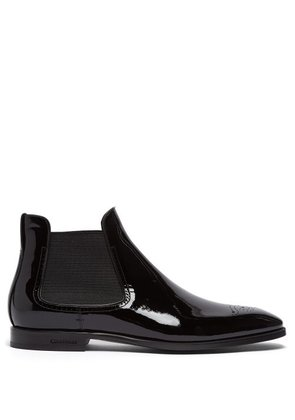 Burberry - Patent Leather Chelsea Boots - Mens - Black