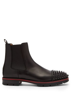Christian Louboutin - Melon Spike Embellished Leather Chelsea Boots - Mens - Black