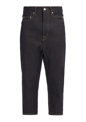 Rick Owens - Collapse Mid Rise Cropped Jeans - Mens - Indigo