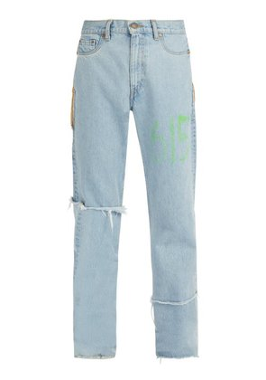 Vetements - X Levi's 615 Distressed Jeans - Mens - Blue