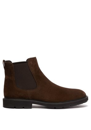 Tod's - Suede Chelsea Boots - Mens - Brown