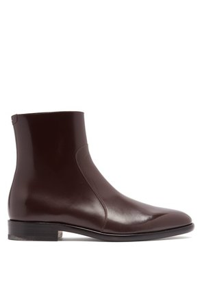 Maison Margiela - Icons Leather Chelsea Boots - Mens - Dark Brown