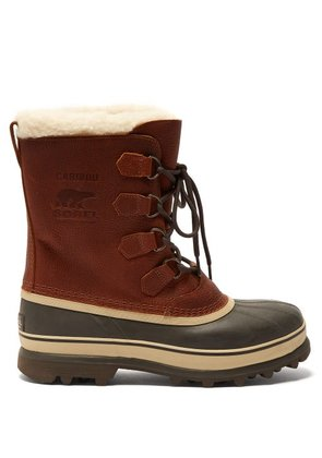 Sorel - Caribou Faux Shearling Lined Snow Boots - Mens - Brown