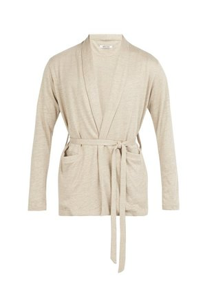 Hecho - Knitted Linen Jacket - Mens - Brown
