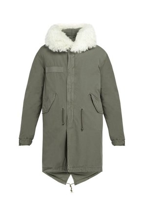 Mr & Mrs Italy - Shearling Trimmed Hooded Cotton Parka - Mens - Grey
