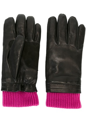 Ami Alexandre Mattiussi leather gloves - Black