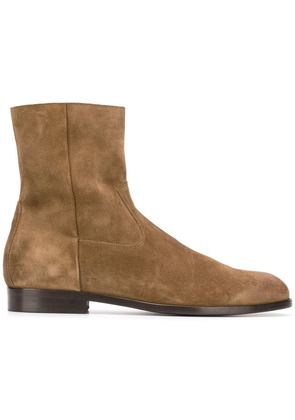 Buttero side zip ankle boots - Brown