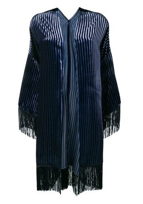 Antonelli striped velvet jacket - Blue