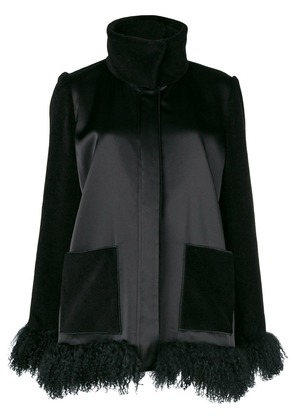 Gianluca Capannolo furry hem jacket - Black