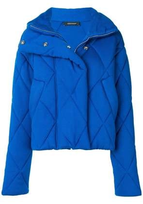 Cédric Charlier quilted oversized jacket - Blue