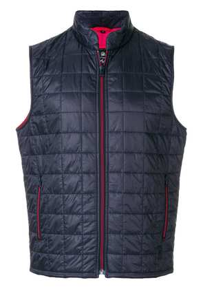 Fay square quilted gilet - Blue