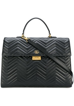 Gucci GG Marmont briefcase - Black