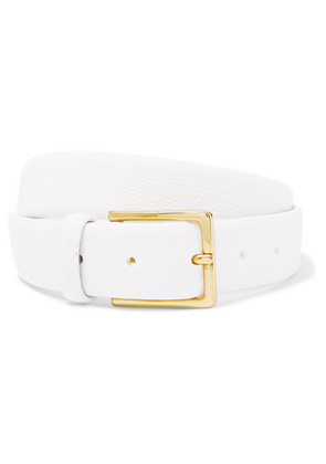 Anderson's - Textured-leather Belt - White