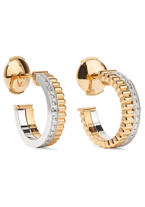 Boucheron - Quatre Radiant Edition 18-karat Yellow And White Gold Diamond Hoop Earrings - one size
