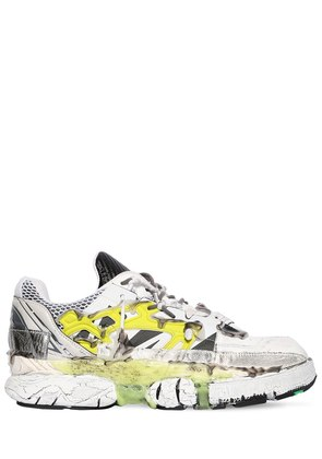 FUSION LEATHER & MESH LOW TOP SNEAKERS