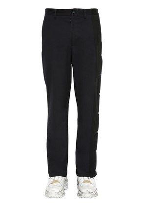 GABARDINE CHINO TROUSERS W/ SIDE BANDS