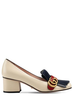 55MM MARMONT LEATHER PUMPS
