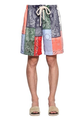 BANDANA PATCHWORK SHORTS