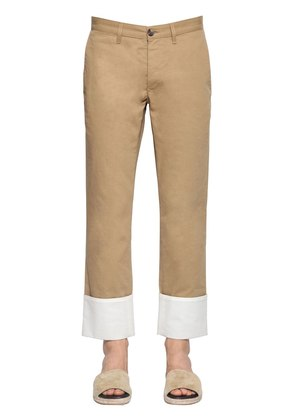 FISHERMAN COTTON CANVAS CHINO PANTS
