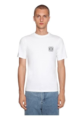 ANAGRAM EMBROIDERY COTTON JERSEY T-SHIRT
