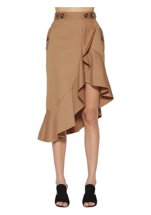 FLOUNCED CANVAS SKIRT