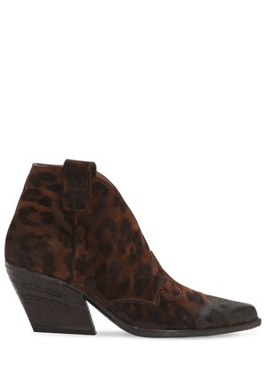50MM ANIMALIER LEATHER COWBOY BOOTS